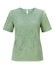 Eastex geo lace top