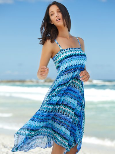 Aztec print two in one beach dress