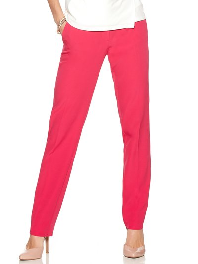 Slim leg crepe trousers
