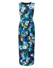 Precis Petite oriental palm maxi dress
