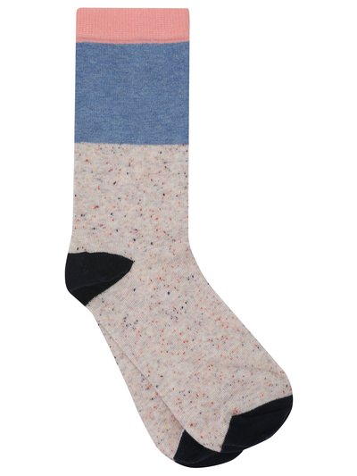Colour block ankle socks