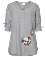 Junarose plus embroidered tunic top
