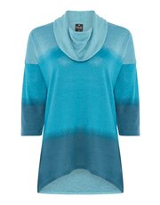 TIGI colour block tunic top