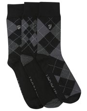 Farah argyle pattern socks