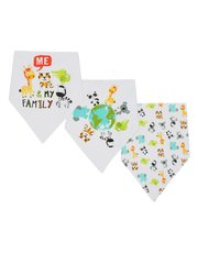 Animal print dribble bibs three pack