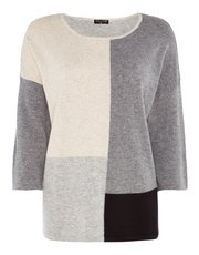 VIZ-A-VIZ colour block top