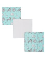 Animal print muslin cloths three pack