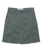 Brakeburn button front skirt