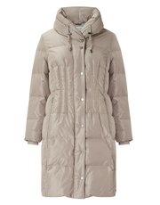 Jacques Vert rouch collar long padded coat