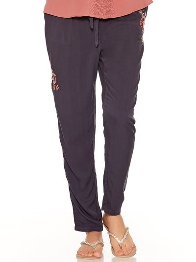 Embroidered utility trousers