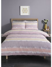 Sunset stripe duvet set