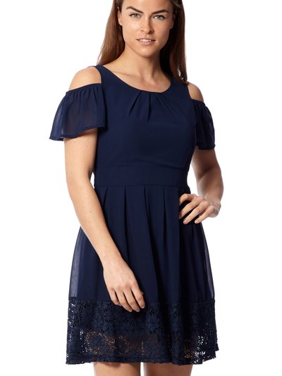 Izabel cold shoulder tea dress