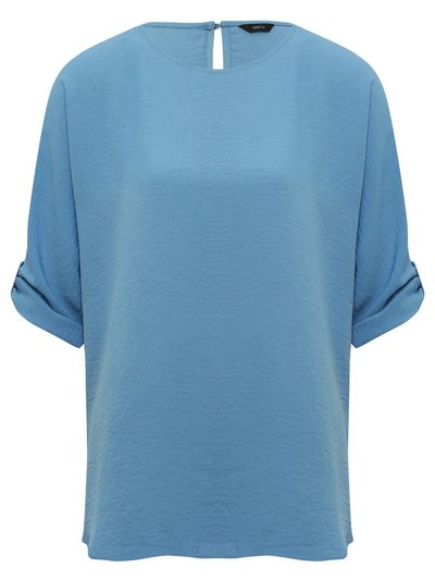 Tabbed sleeve tunic top