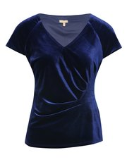 Short sleeve velvet top
