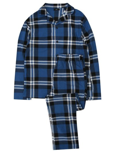 Fleece check pyjamas