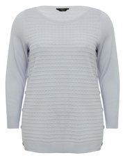 Plus textured button jumper