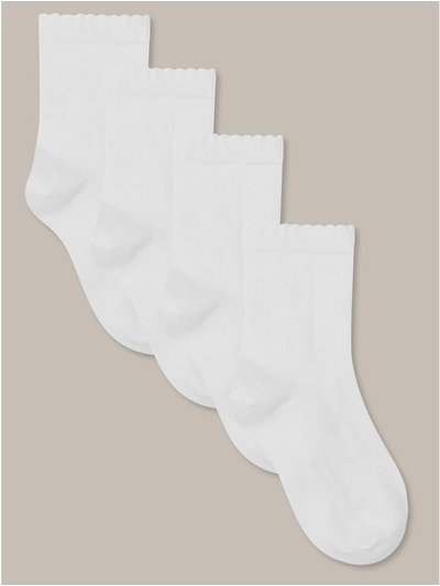 White ankle socks four pack
