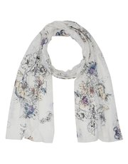 Floral print jersey lightweight scarf