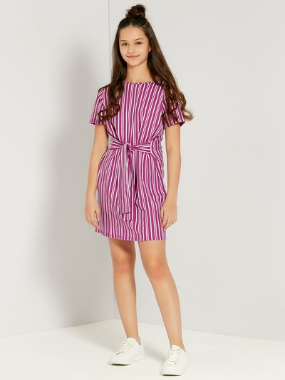 Teens' stripe knot dress
