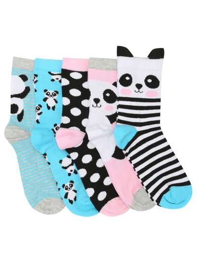 Teens' panda socks five pack