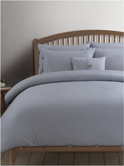 Grey cotton duvet set