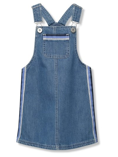 Stripe denim pinafore dress (3-12yrs)