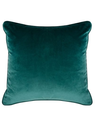 Forest green velour cushion