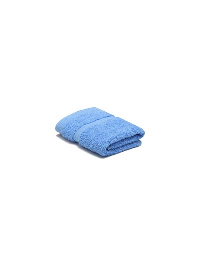 Light blue combed cotton facecloth