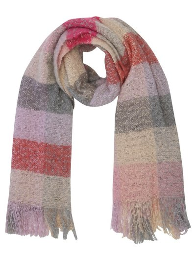 Boucle checked scarf