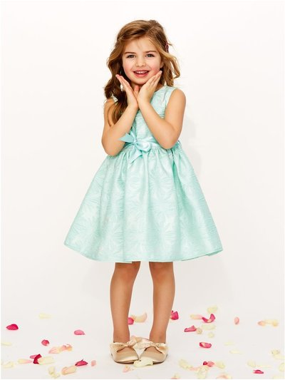 Floral jacquard prom dress (3-12yrs)