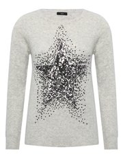 Sequin embellished star jumper