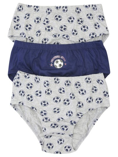 Football briefs three pack (2-10yrs)