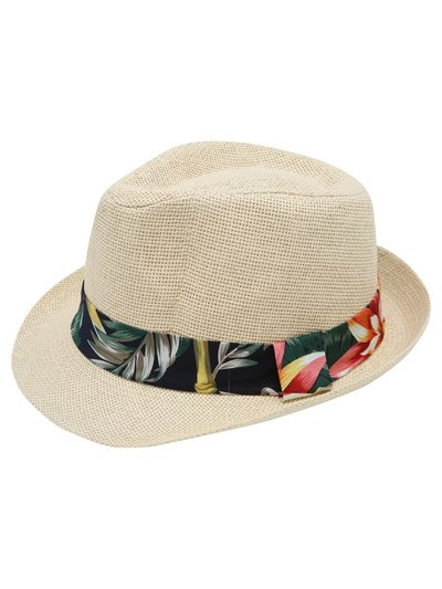 Floral band trilby hat