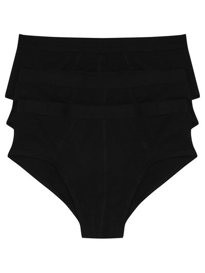 Plain black briefs three pack