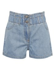 Teen paperbag denim shorts