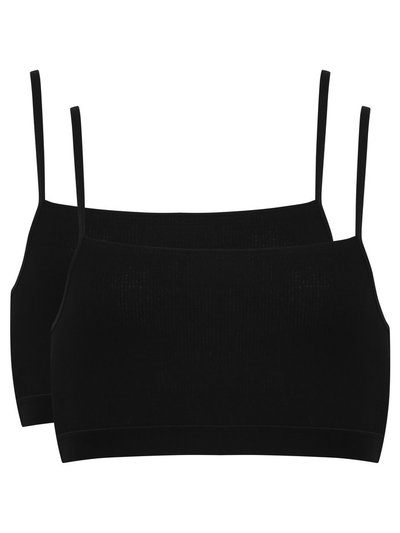 Teen black crop tops two pack
