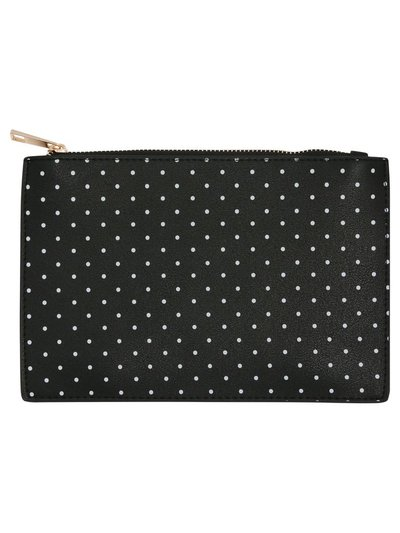Polka dot clutch bag