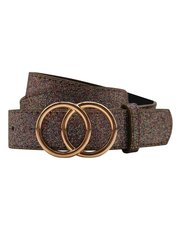 Teen glitter double ring belt