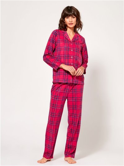 Check print fleece pyjama set