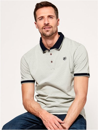 Stripe short sleeve polo shirt