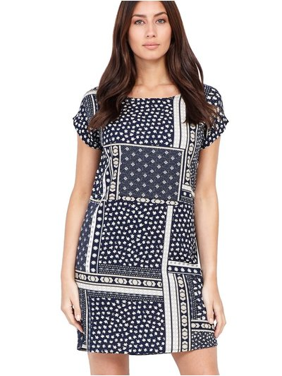 Izabel patchwork shift dress