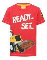 JCB ready set lets get digging slogan t-shirt