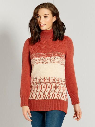 Fairisle cable knit tunic jumper