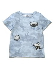 Badge embroidered camouflage t-shirt (3 - 13 yrs)