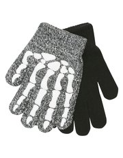 Glow in the dark skeleton gloves two pack