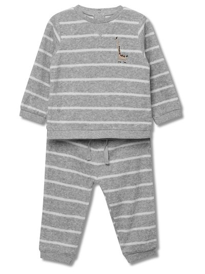 Animal striped sweatshirt and joggers set (Newborn-18mths)