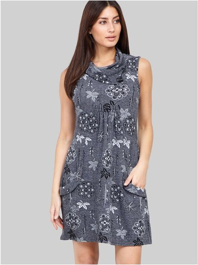 Izabel floral cowl neck smock dress