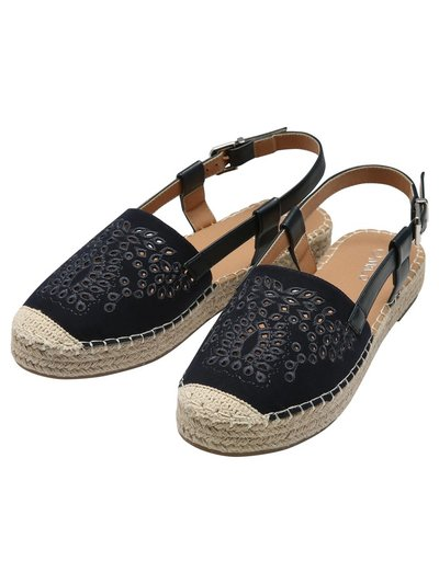 Funky laser cut thick espadrille
