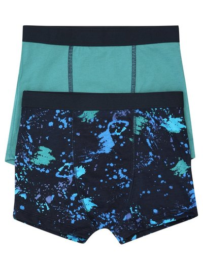 Splatter print boxer shorts two pack (3-10yrs)