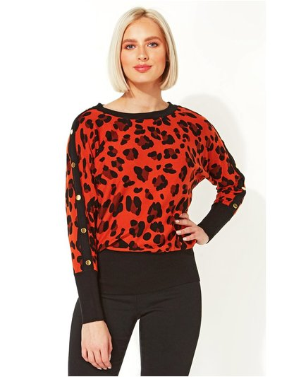 Roman Originals animal print stud detail jumper